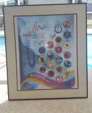 """"""" Multi Jazz Artist Autographed Poster"""". The life of Waymon Tisdale Framed"""