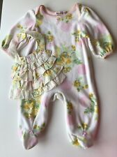 Juicy Couture Baby Girl Babygrow & Bib 0/3 Months