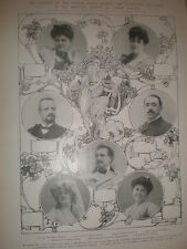Printed photos Principal opera singers for season Covent garden London 1905