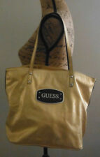 AUTHENTIC GUESS WOMEN'S HANDBAG GLOSS GOLD/BLACK/SILVER SIZE LARGE
