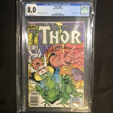 THOR #364 CGC 8.0 1ST APPEARANCE THROG THOR AS A FROG Marvel Comics MIGHTY 1986
