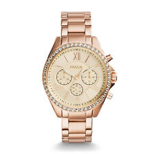Fossil Damenuhr Armbanduhr BQ1774 COURIER CHRONOGRAPH ROSE GOLD-TONE WATCH