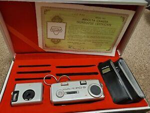 Vintage Minolta 16 MG-S 16MM Subminiature Camera & Cube-Gun Original Box