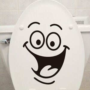 Cartoon Smile Wallpapers All-match Style Art Mural Waterproof Toilet Stickers