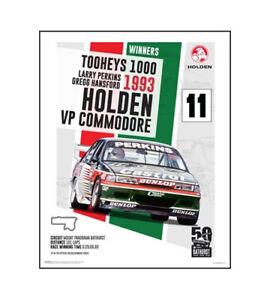 "Holden Commodore VP Poster – Perkins Hansford 93 Bathurst – 50 x 40 cm 20"" x 16"""