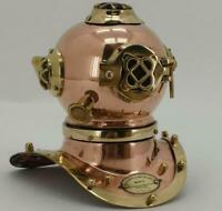 Copper & Brass Divers Helmet US Navy Mark IV - Display piece - Maritime Nautical