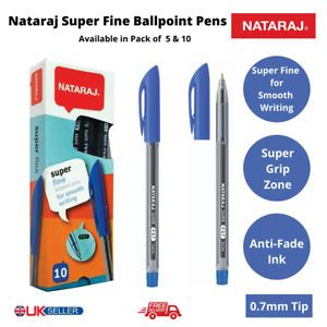 Nataraj Super Fine Ballpoint Pens Blue