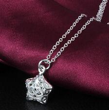 Silberkette Silberschmuck Kette Silber S925 Halskette Geburtstagsgeschenk Stern