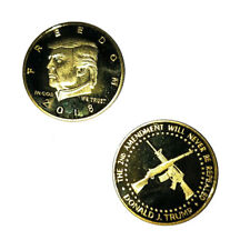 2018 Collectibles US President Donald Trump Gold Plated Commemorative Coin RF