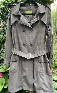 Classic Aigle Plaid Trench Coat Parka Optional Hood 12 Hardly Worn