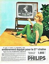 Publicité Advertising 018  1962   Philips téléviseur asymétrique