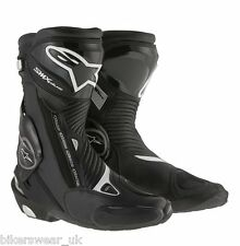 Alpinestars SMX S-MX Plus Black  Motorcycle Racing & Sport  Boots  **NEW** ZQ