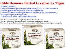 3 x 75g HILDE HEMMES HERBALS Herbal Tea Laxative ( 225g )  *  Treat Constipation