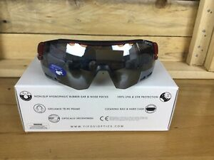 Tifosi Alliant Black And Red Sunglasses Interchangeable Lenses