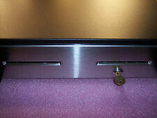 """CD10027 RADIANT SYSTEMS 16"""" USB I/F CASH DRAWER SS FRONT DOMESTIC TILL W/ KEY"""