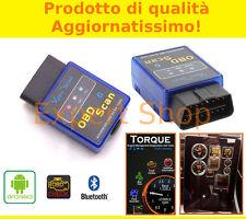 MINI INTERFACCIA DIAGNOSI OBD2 AUTO BLUETOOTH CANBUS ANDROID TABLET PHONE TORQUE