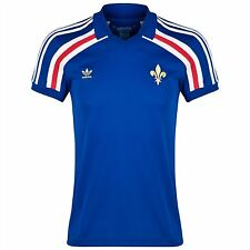 """adidas France National Football Jersey Retro Trefoil Number """"10"""" rrp£60 Size XL"""