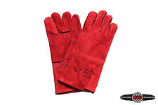 Pair of High Quality Leather Welding Gloves MIG / ARC High Temp Heat Resistant