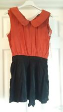 EXCELLENT CONDITION MISO  RUSTY BROWN /BLACK PLAYSUIT SIZE 8