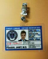 Stargate SG-1 Command ID Badge-Major Janet Fraiser Medical Officer cosplay prop