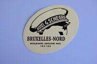"""Hotel Bruxelles Nord Belgium Travel Luggage label 3.5x2.5"""" Vintage Decal Sticker"""