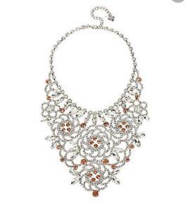 Betsey Johnson Ballerina Rose Flower Bib Drama Necklace $125 #S 1