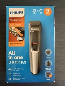 Philips Beard and Hair Trimmer  9 in 1 All-In-One , Series 3000 Grooming MG3722
