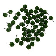 Pack of 50pcs Green Ball Shaped N Scale DIY Scenery Model Trees 3cm/1.18''