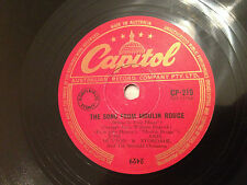 "JANE HUTTON, AXEL STORDAHL ""Song From Moulin Rouge""/""Say You're Mine"" 78rpm 10"""
