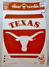 "University of Texas Decor Toilet Tattoo Vinyl Peel and Stick 12""x15"" Removable"