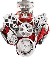 BILLET SPECIALTIES TRU TRAC CHEVY FRONT ENGINE KIT,SBC,AC COMPRESSOR,PULLEYS,ETC