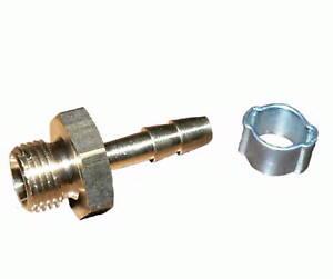 """4 mm Schlauchtülle mit  G1/8"""" Außengewinde und Schlauchklemme (5-7 mm)"""
