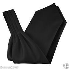 Ascot Cravat Self Tie Italian Black Satin