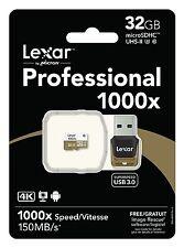 Tarjeta Memoria MicroSD 32 GB 150MB/s 1000x CLASE 10 Lexar Professional SDHC U3