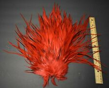 Lot 13, New Dyed Red Variant Rooster Saddle Feathers Fly Tying