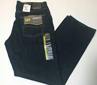 """Men's Lee Jeans Regular Fit """"Orion"""" Dark Navy Blue Straight Leg"""