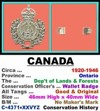 Wallet Badge • Canada-Ontario • Dep't of Lands & Forests • 1920-1946 • C•4371•