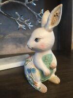 Colorful  Bunny with Spring Floral Design. Colorful Cute Easter Décor Or Gift