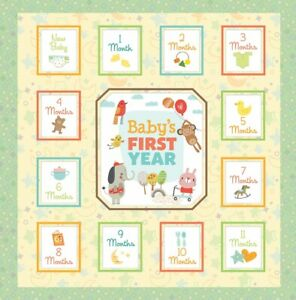 """Phoenix Kids E1 Baby's First Year Gender Neutral 12"""" Yellow Memory Book 7826600"""
