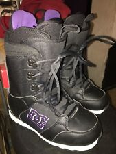 2012 DC Phase Black Womens snowboard boots US W sz 9
