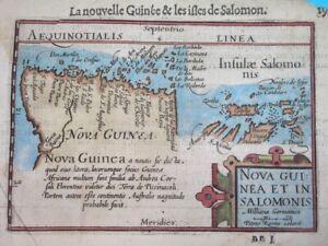 1602 RARE ORIGINAL MAP PAPUA NEW GUINEA & SOLOMON ISLANDS / KAERIUS / ORTELIUS