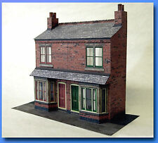 7mm Scale Victorian Bay Front Terraced House Card Model Kit Ideal For O Gauge