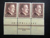Germany Nazi 1942 Stamps MNH Adolf Hitler 53rd birthday Swastika Generalgouverne