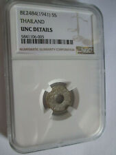 Thailand 5 Satang 1941. NGC UNC Silver