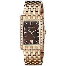 Caravelle New York Women's 44L120 Analog Rose Gold Dress Watch