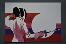 R&L Postcard: 1984 Los Angeles Olympics, Robert Peak, Women's Fencing