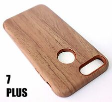 iPhone 7+ / 8+ Plus - HYBRID HARD & SOFT RUBBER ARMOR CASE BROWN PLASTIC WOOD