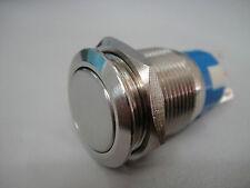Lock Stainless Steel Push-Button OFF-ON SPST Switch 12v 110V-120v/10Amp 250v 5A