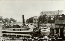 Christmas Cove ME Steamer Steamship WIWURNA 1950s-60s Real Photo Postcard