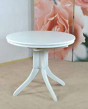 Tisch Ausziehbar Rund Esstisch Küchentisch Esszimmertisch weiß